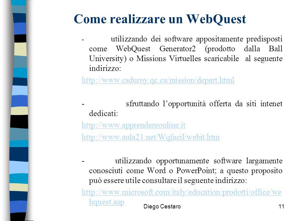 Come realizzare un WebQuest