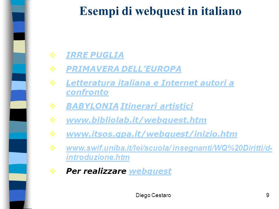 Esempi di webquest in italiano