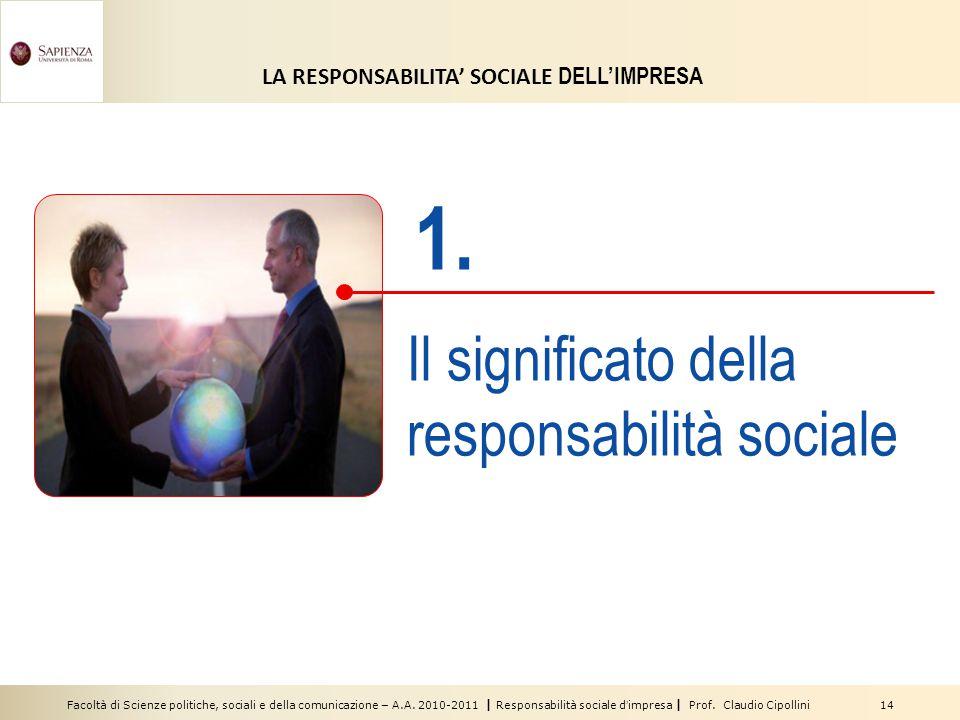 1. Il significato della responsabilità sociale