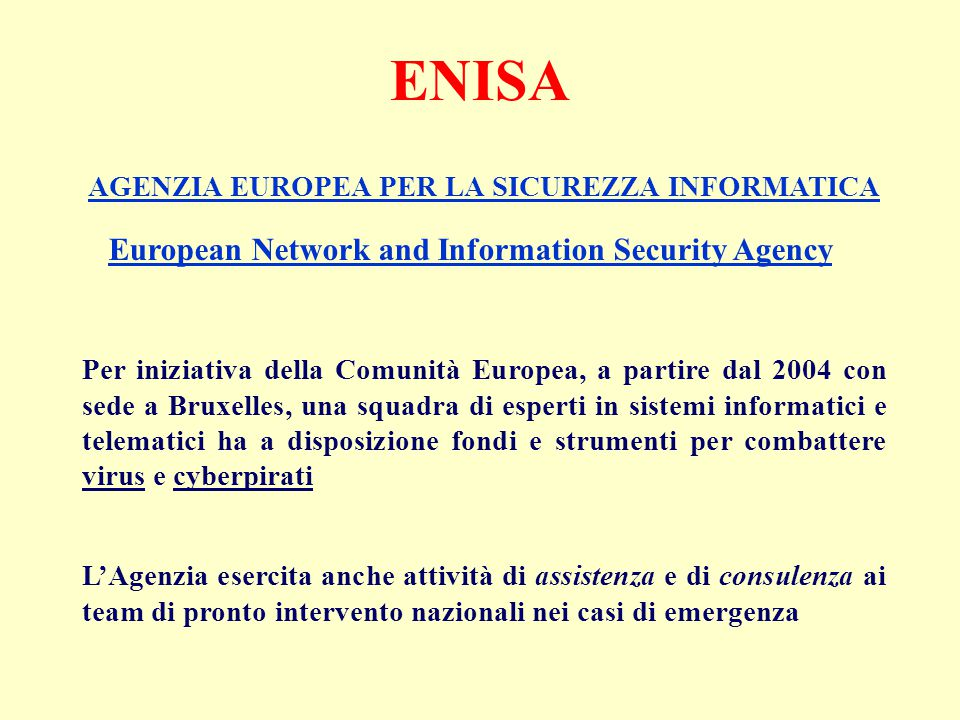 Legislazione informatica - Computer crimes (I. Zangara)