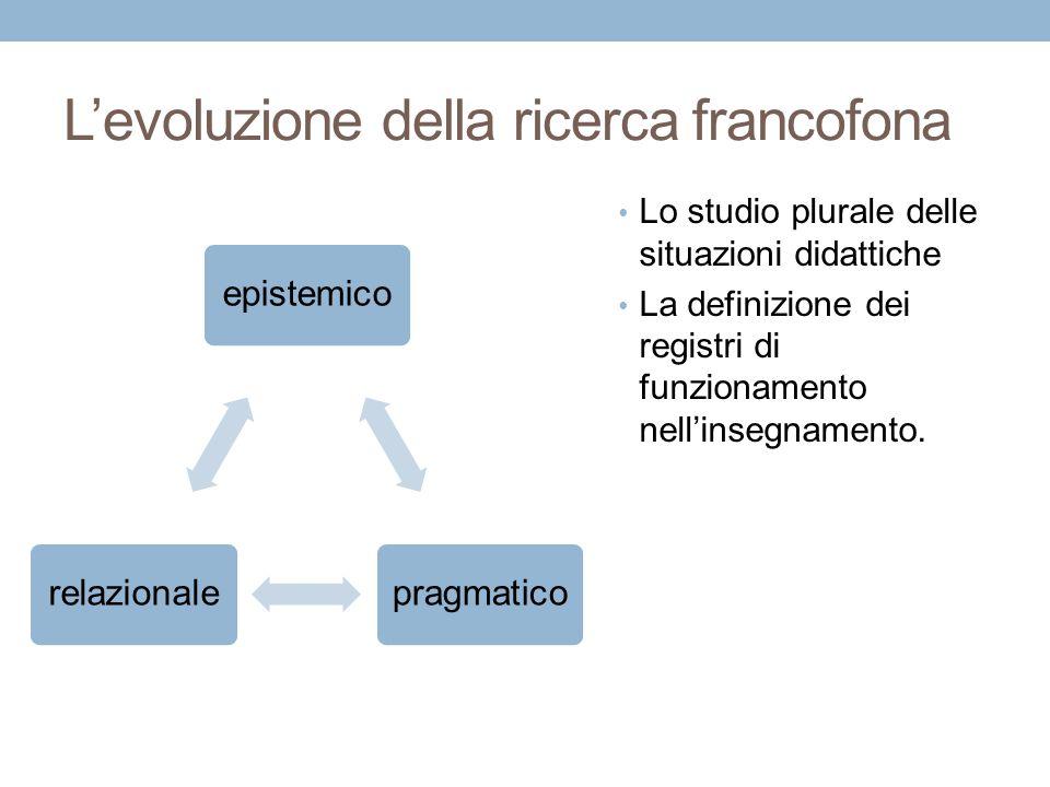 L'evoluzione della ricerca francofona