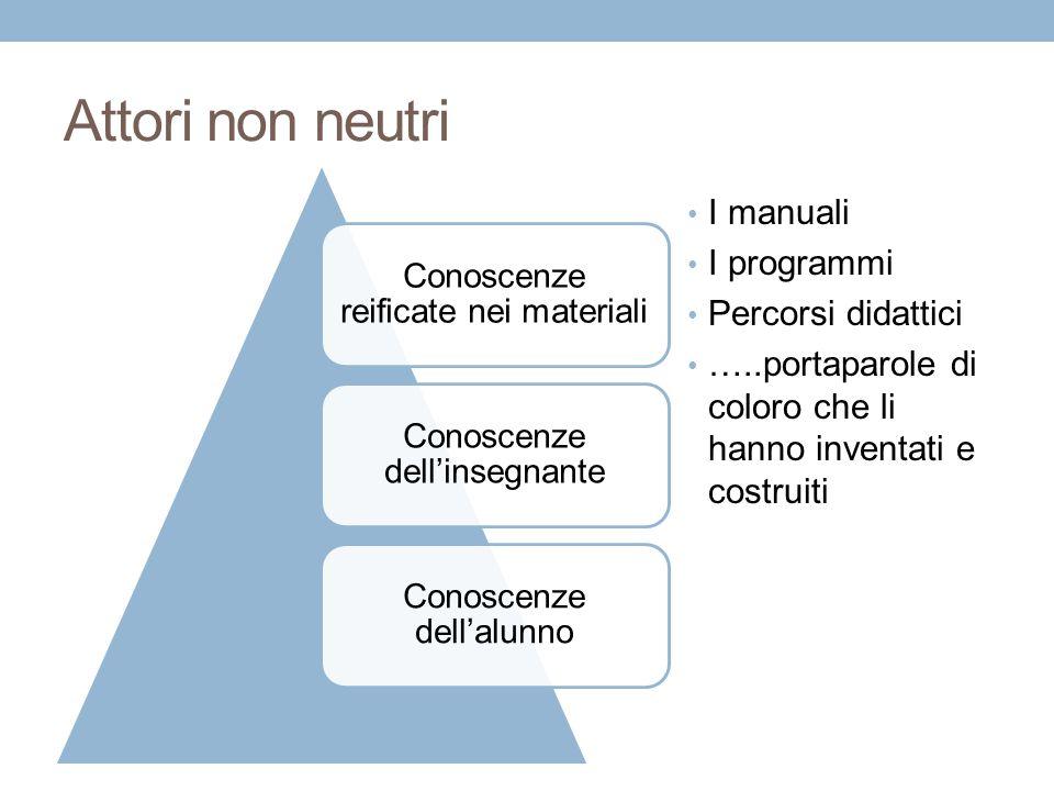 Attori non neutri I manuali I programmi Percorsi didattici