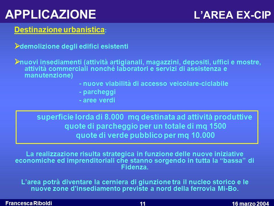 APPLICAZIONE L'AREA EX-CIP