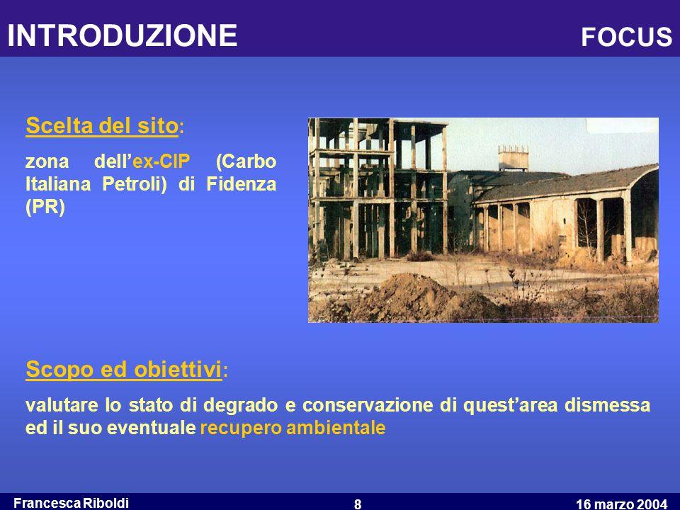 INTRODUZIONE FOCUS Scelta del sito: Scopo ed obiettivi: