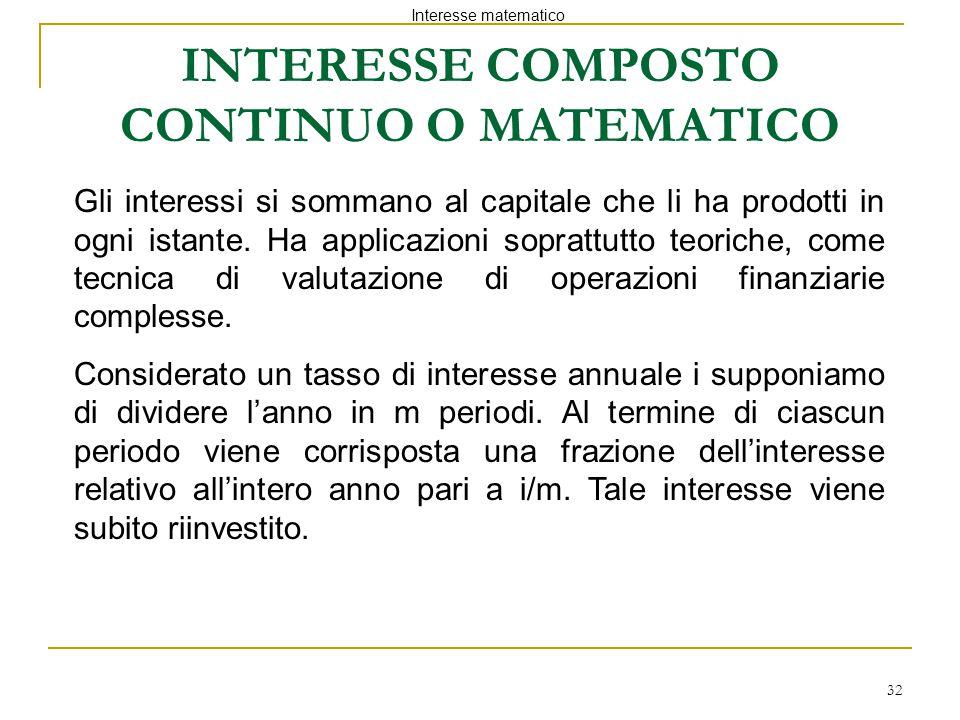INTERESSE COMPOSTO CONTINUO O MATEMATICO
