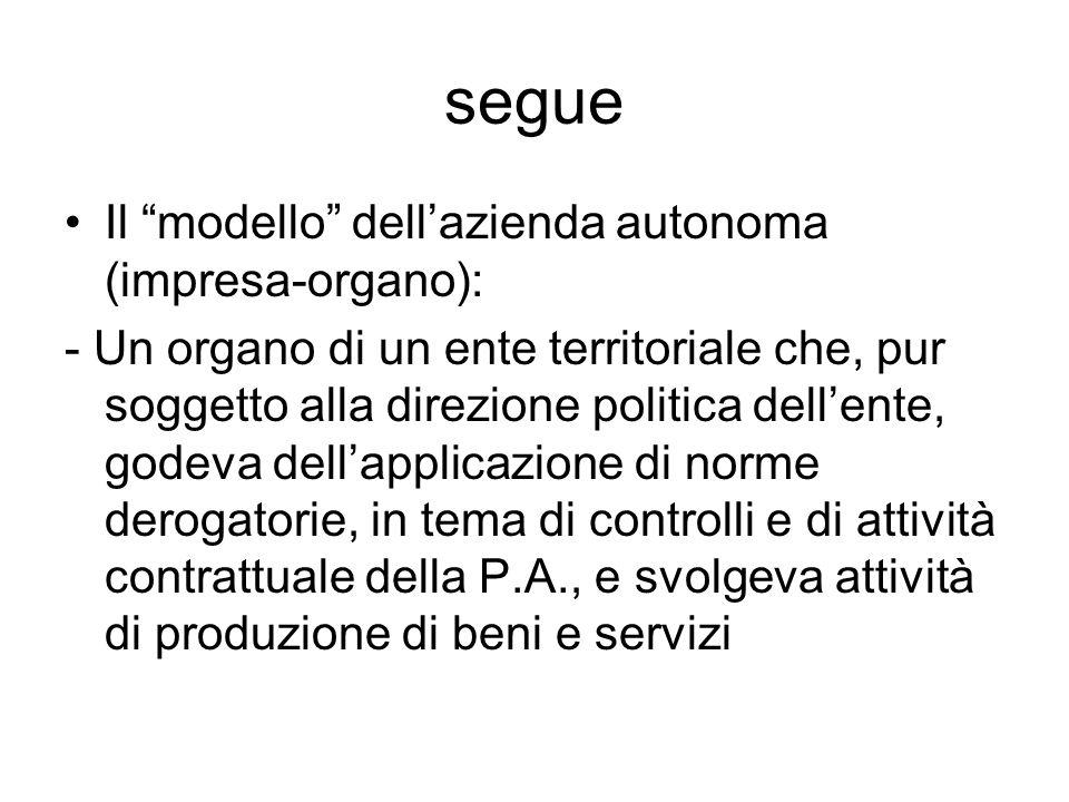segue Il modello dell'azienda autonoma (impresa-organo):