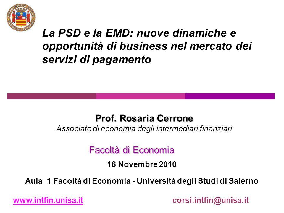 Aula 1 Facoltà di Economia - Università degli Studi di Salerno