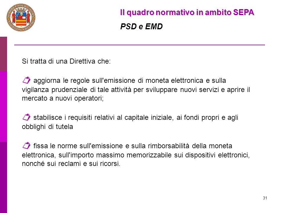Il quadro normativo in ambito SEPA