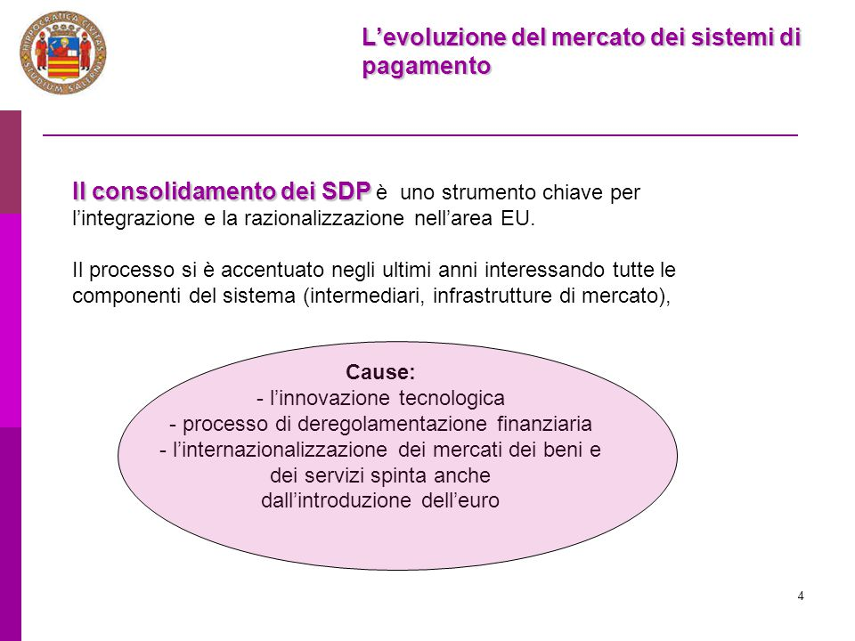 L'evoluzione del mercato dei sistemi di pagamento