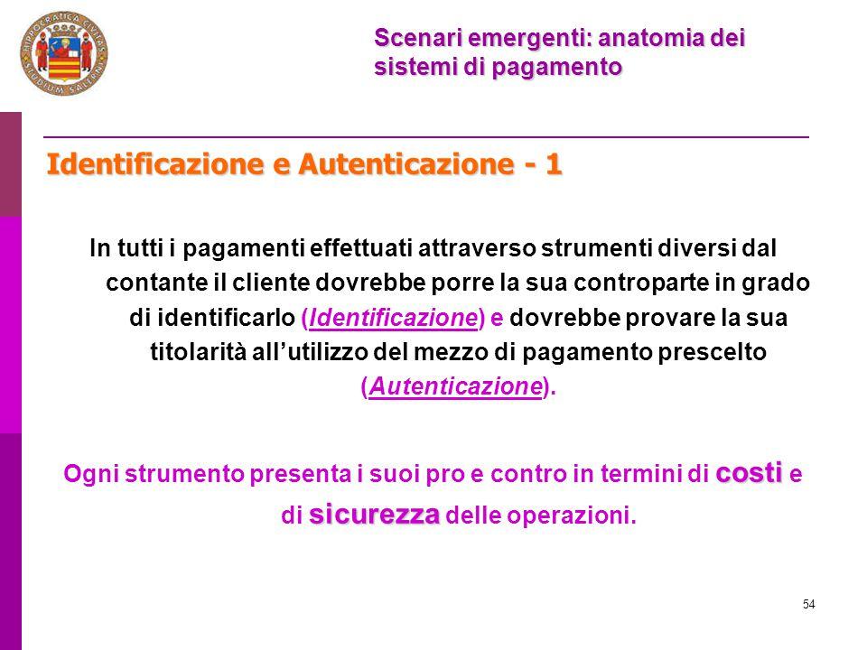 Identificazione e Autenticazione - 1