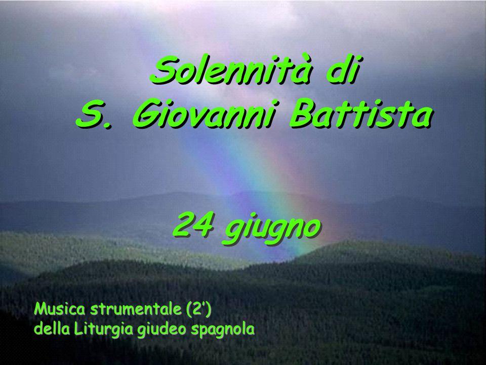 Solennità di S. Giovanni Battista