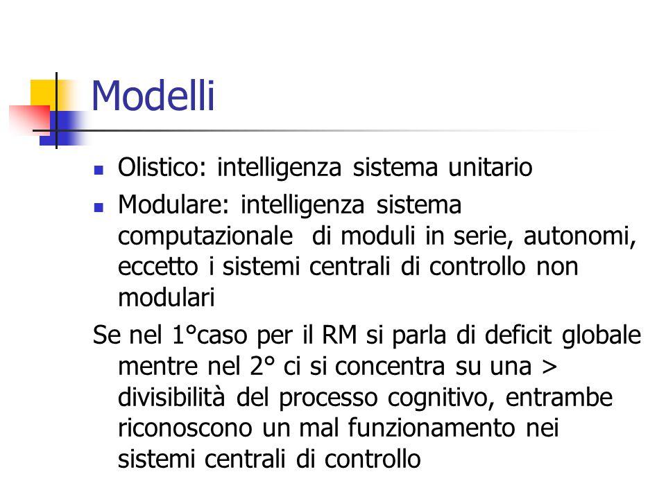 Modelli Olistico: intelligenza sistema unitario