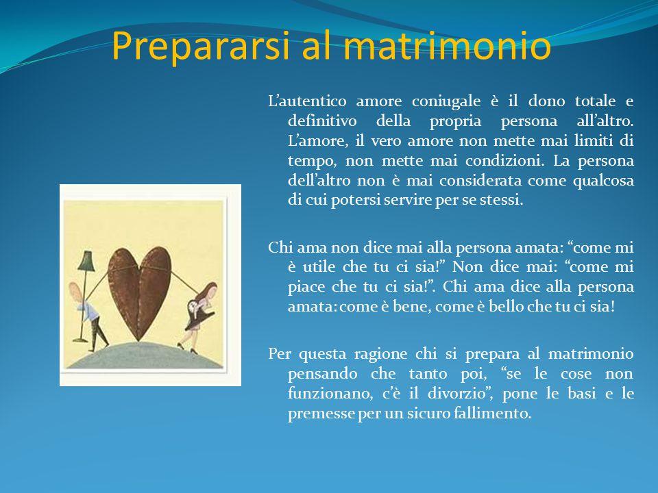 Prepararsi al matrimonio