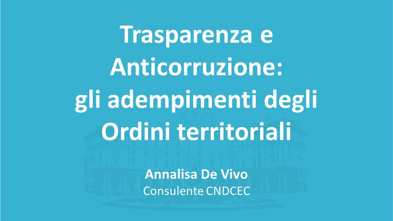 Trasparenza e Anticorruzione: