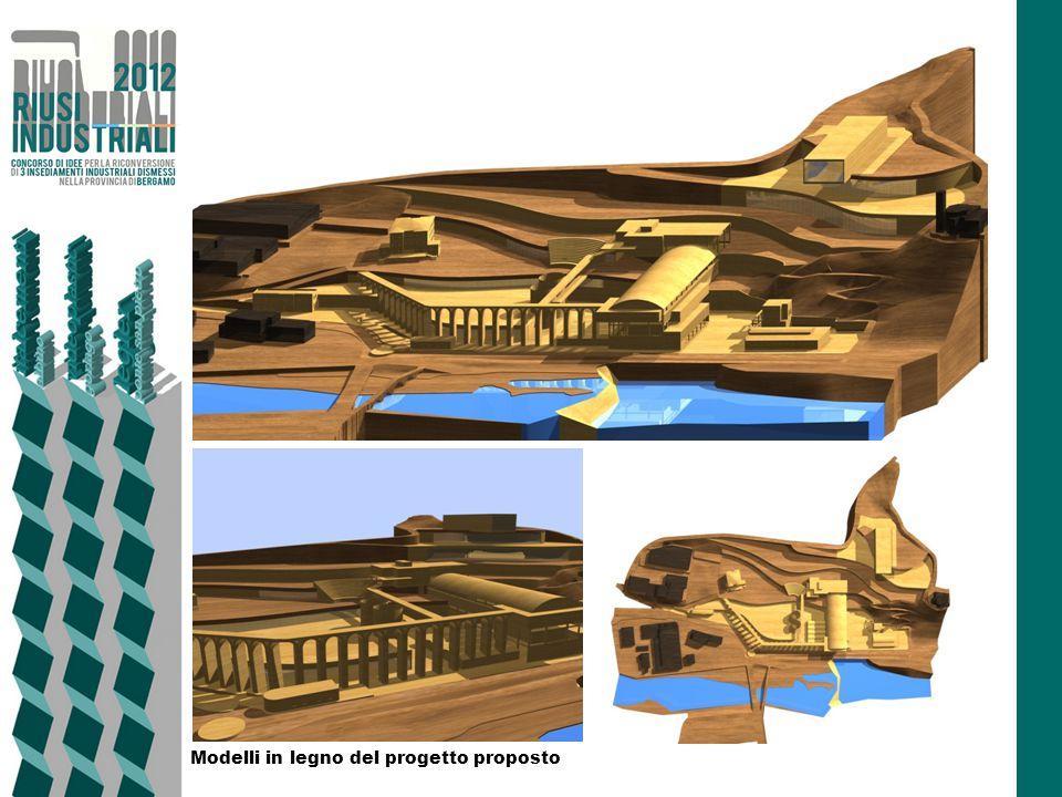 Modelli in legno del progetto proposto