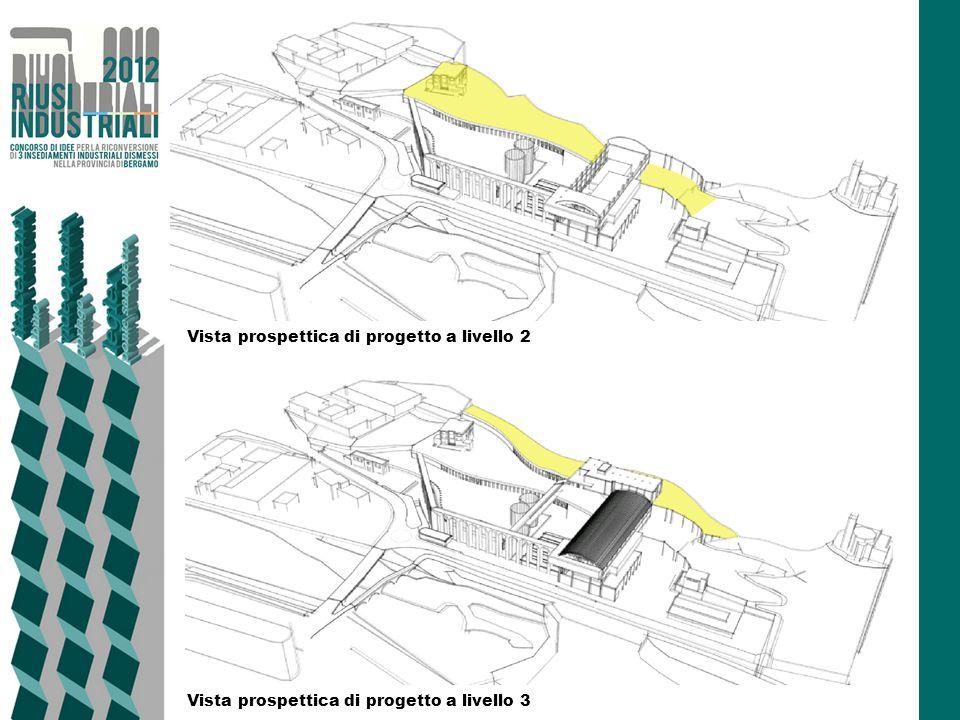 Vista prospettica di progetto a livello 2