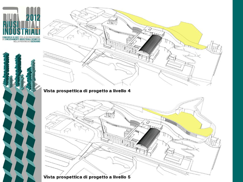 Vista prospettica di progetto a livello 4