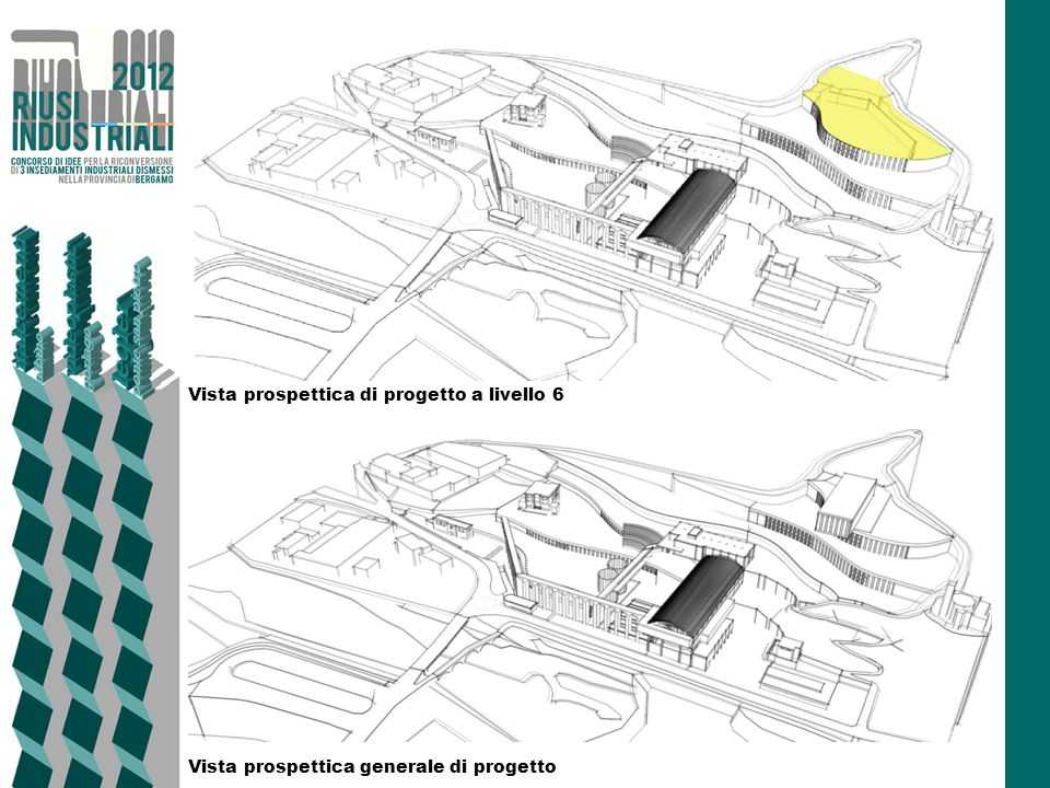 Vista prospettica di progetto a livello 6