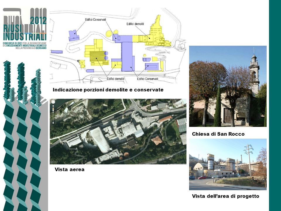 Indicazione porzioni demolite e conservate
