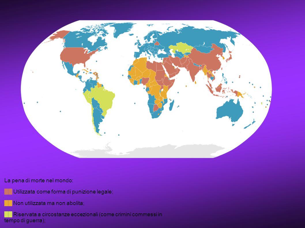 La pena di morte nel mondo: