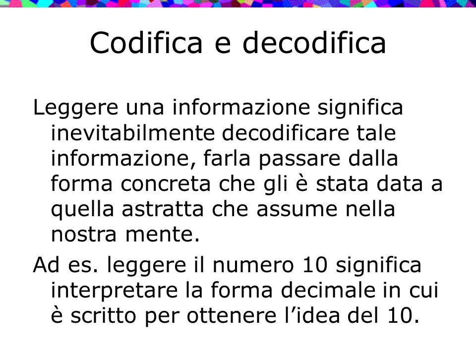 Codifica e decodifica