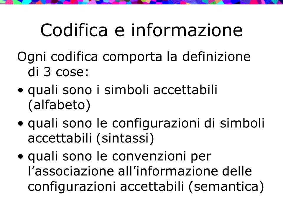 Codifica e informazione