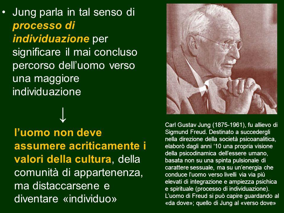 Jung parla in tal senso di processo di individuazione per significare il mai concluso percorso dell'uomo verso una maggiore individuazione