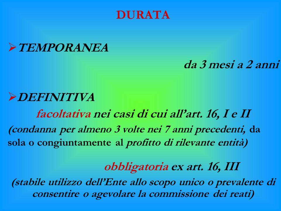 obbligatoria ex art. 16, III