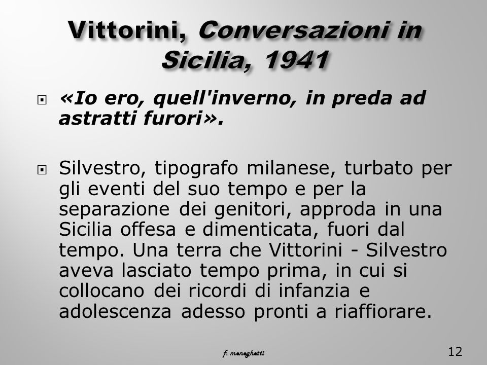 Vittorini, Conversazioni in Sicilia, 1941
