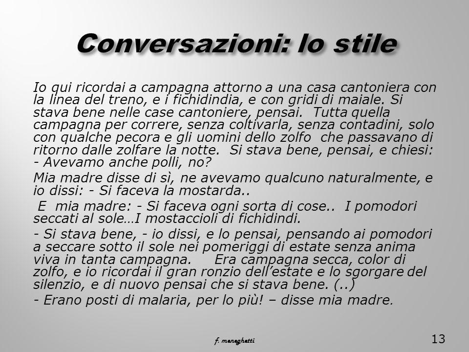Conversazioni: lo stile