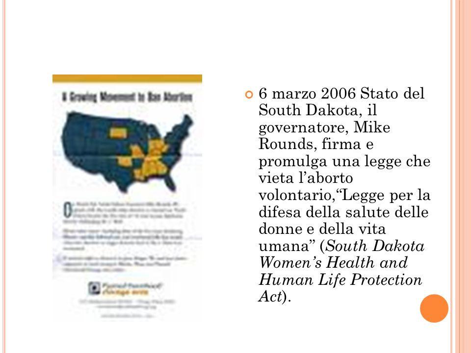 Lo Stato del South Dakota contro la Roe vs Wade