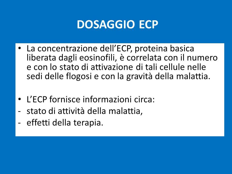 L'ECP fornisce informazioni circa: stato di attività della malattia,