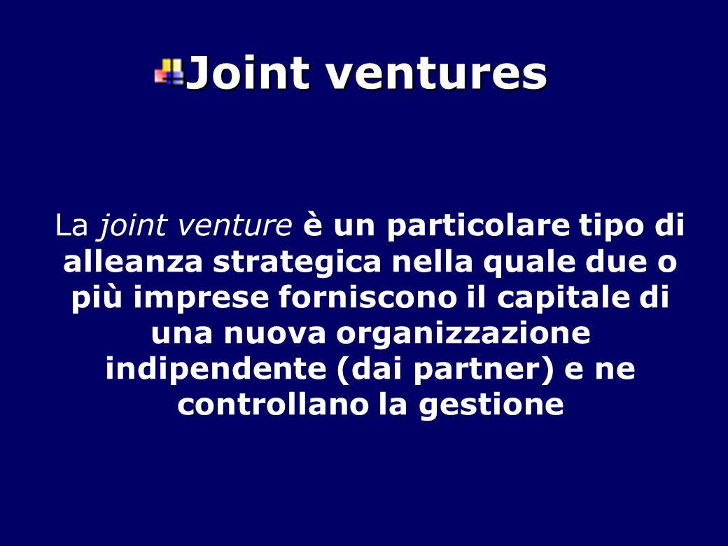 La joint venture è un particolare tipo di