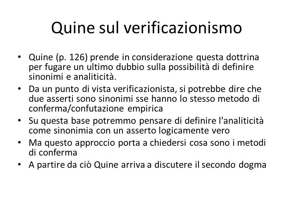Quine sul verificazionismo