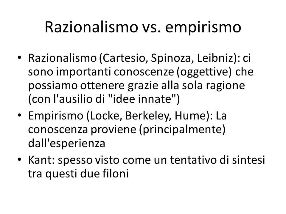 Razionalismo vs. empirismo