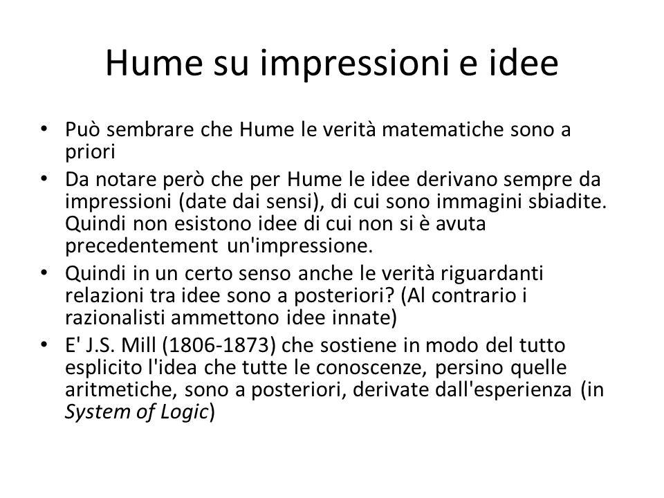 Hume su impressioni e idee