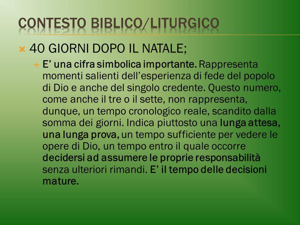 CONTESTO BIBLICO/LITURGICO