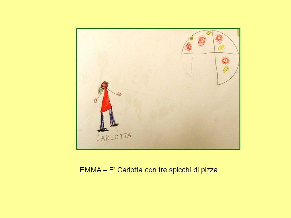 EMMA – E' Carlotta con tre spicchi di pizza