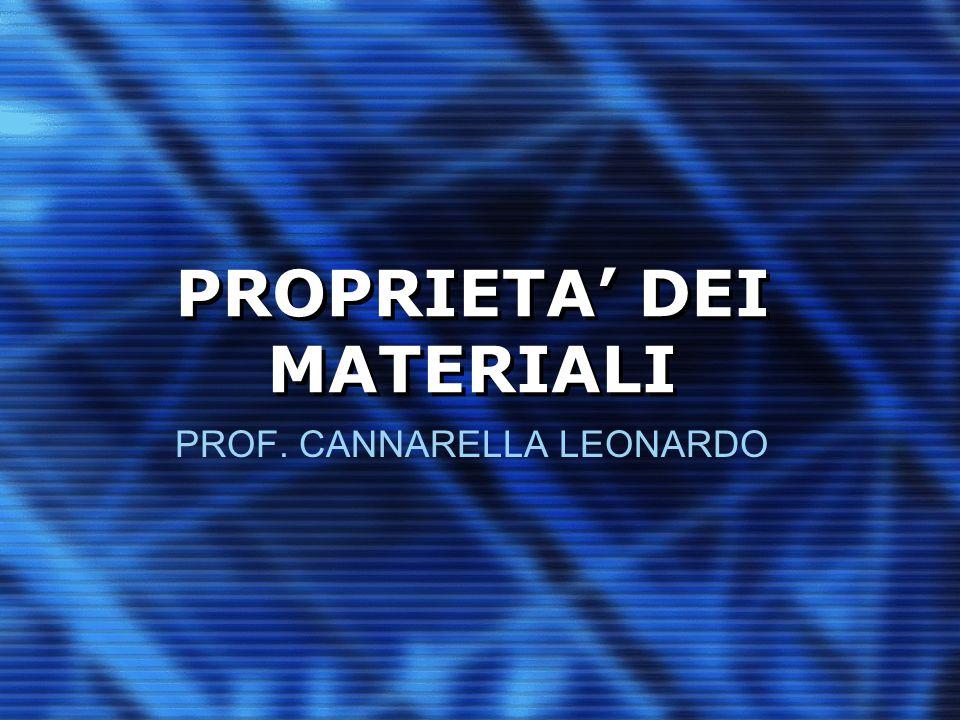PROPRIETA' DEI MATERIALI