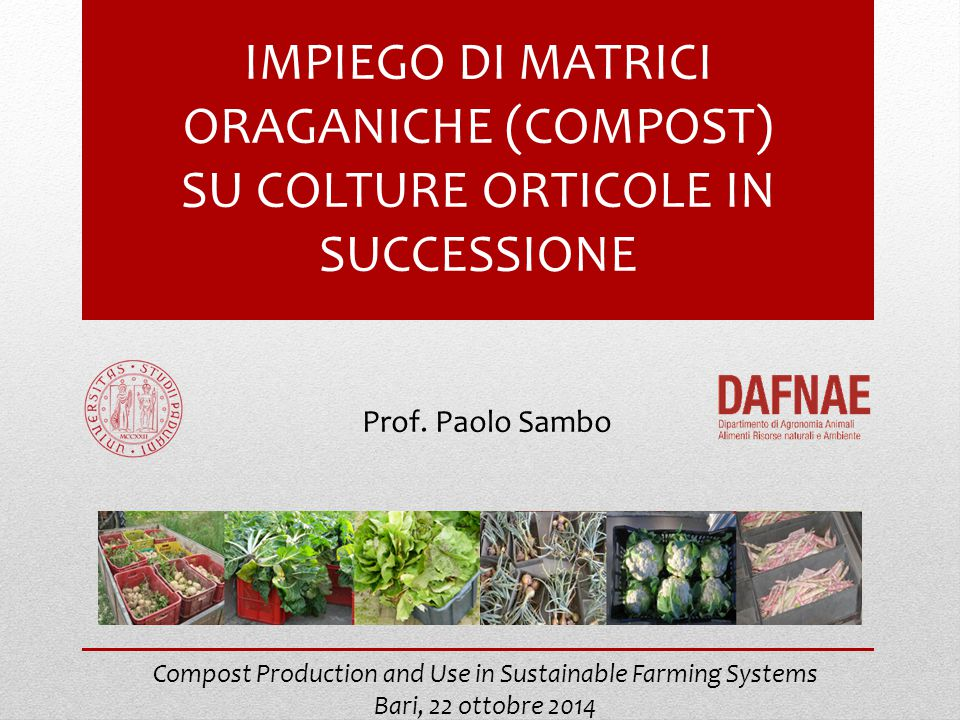 Compost Production and Use in Sustainable Farming Systems