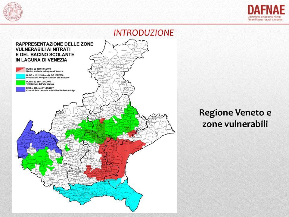 INTRODUZIONE Regione Veneto e zone vulnerabili