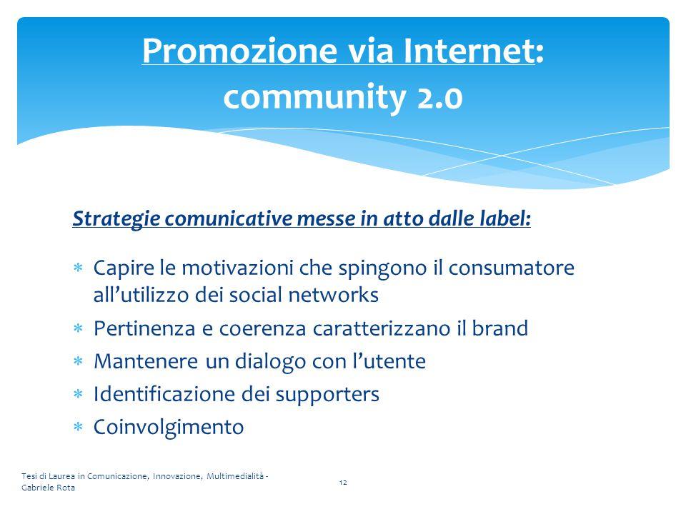 Promozione via Internet: community 2.0