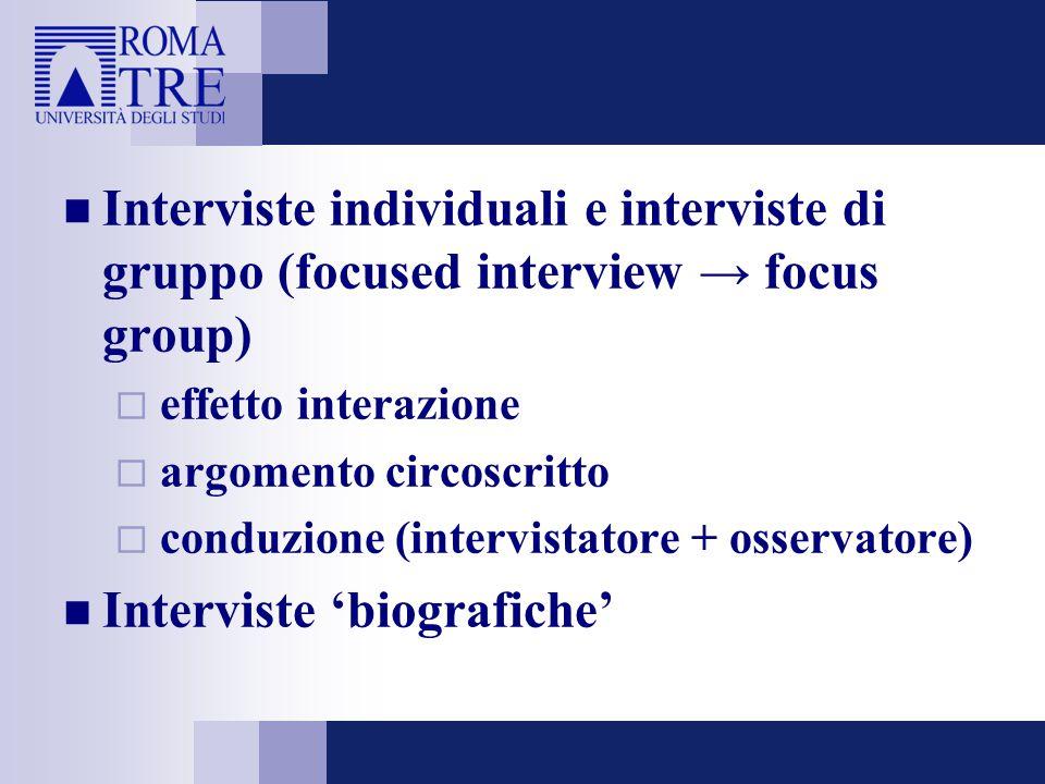 Interviste 'biografiche'