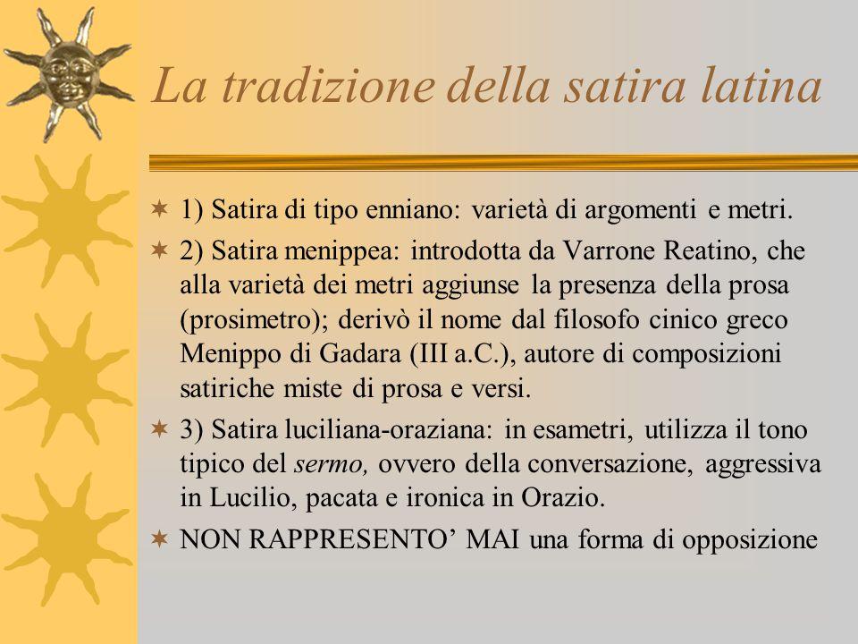 La tradizione della satira latina