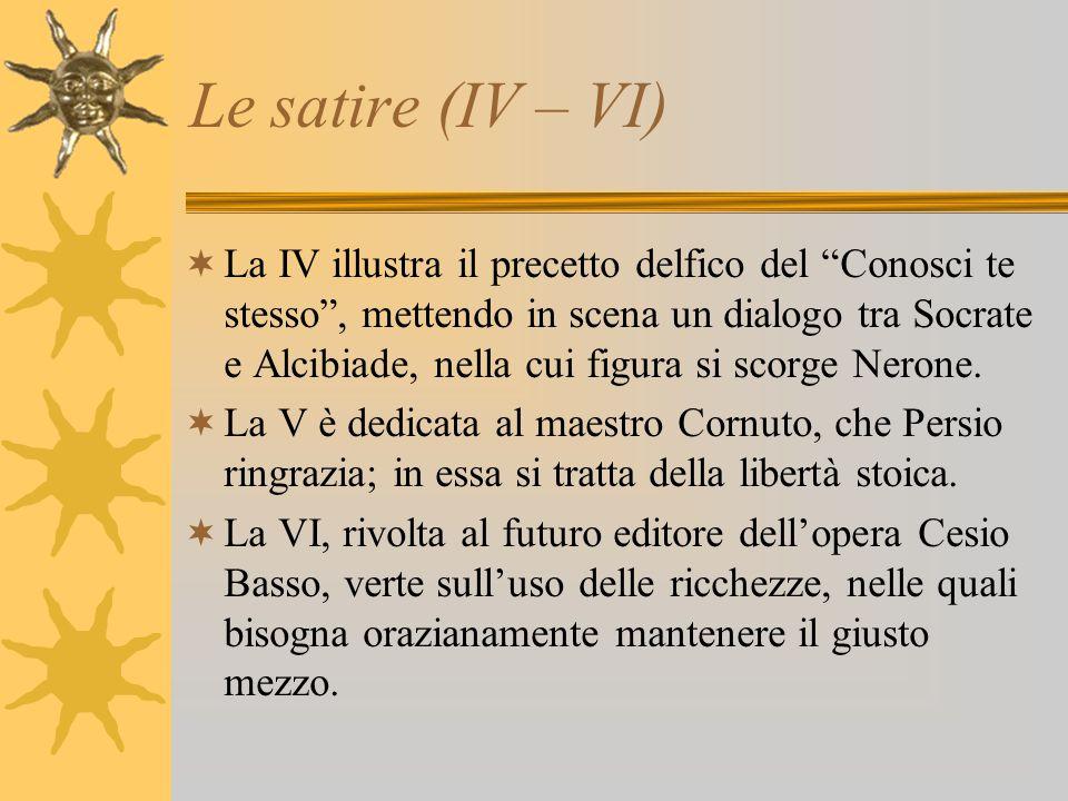 Le satire (IV – VI)