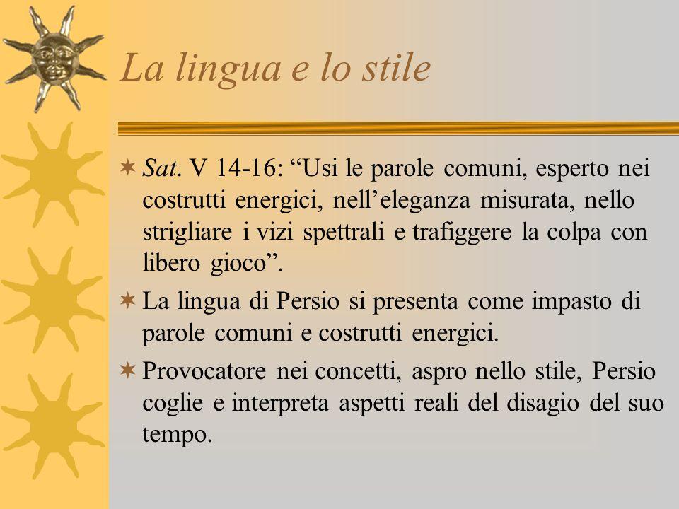 La lingua e lo stile
