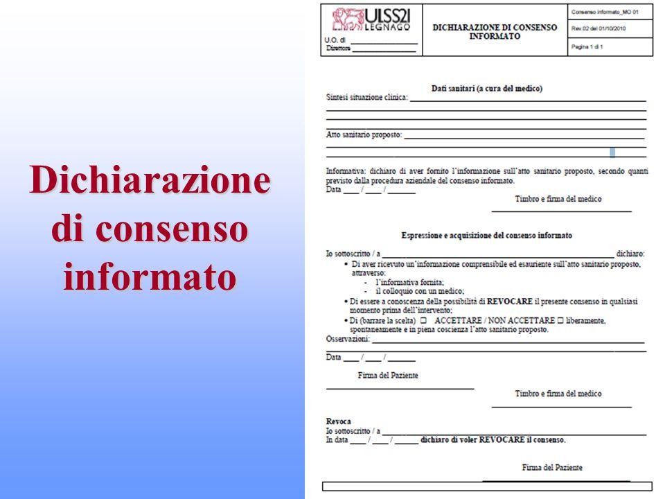 Dichiarazione di consenso informato