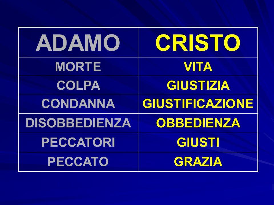 ADAMO CRISTO MORTE VITA COLPA GIUSTIZIA CONDANNA GIUSTIFICAZIONE