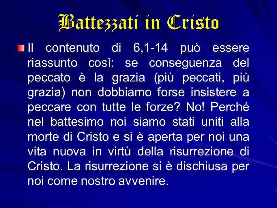 Battezzati in Cristo