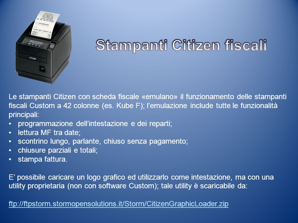 Stampanti Citizen fiscali